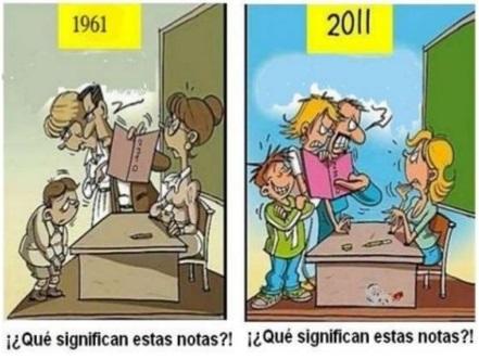educacion antes y ahora