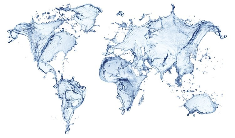 mapamundi del agua