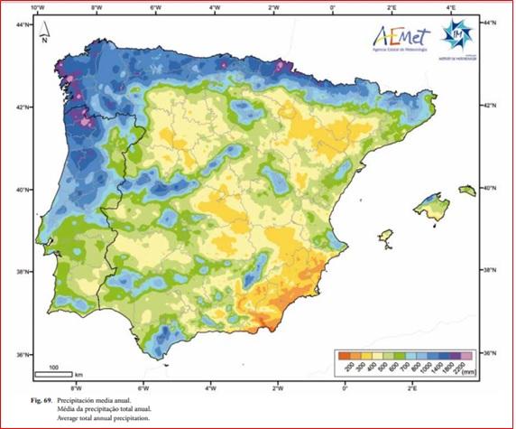 Mapa de precipitaciones-AEMET